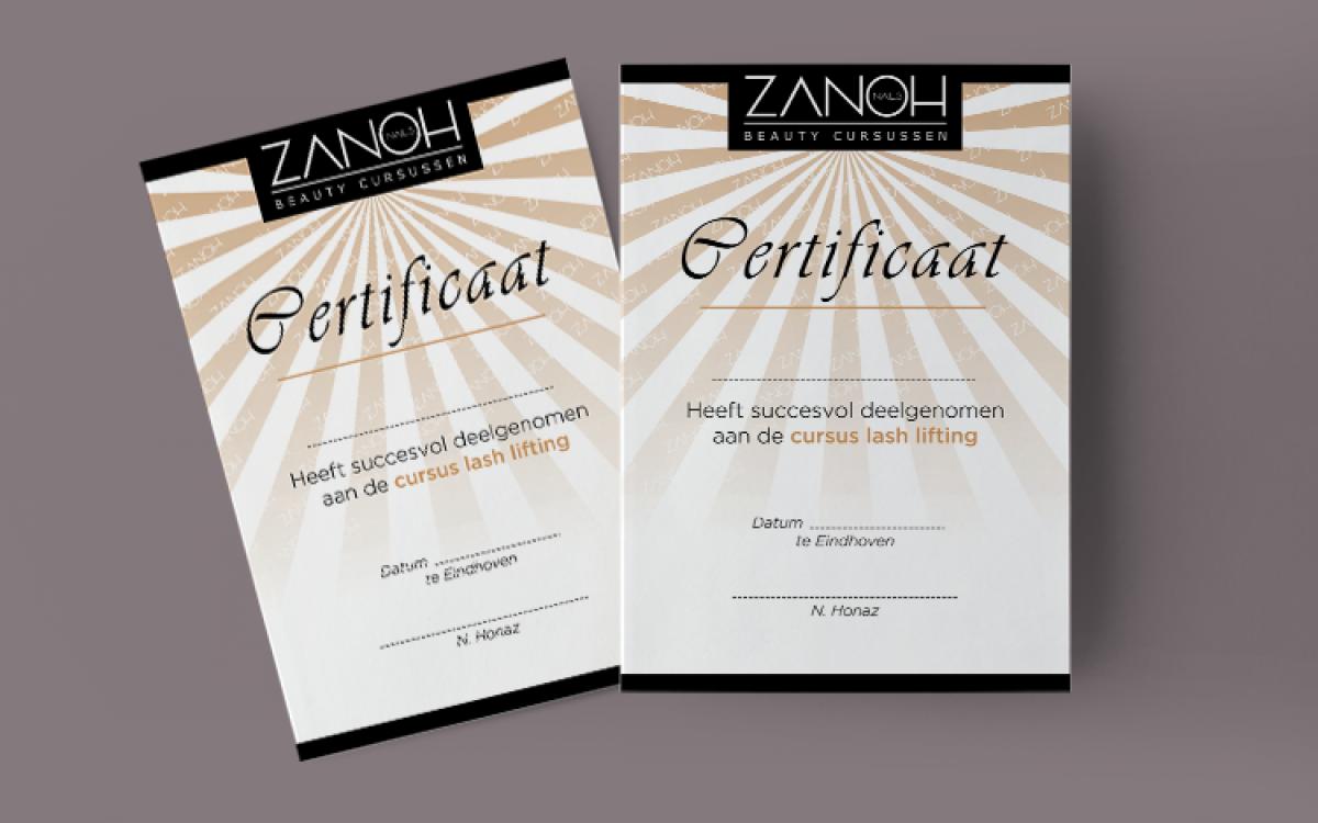 Zanoh Academy Certificaat