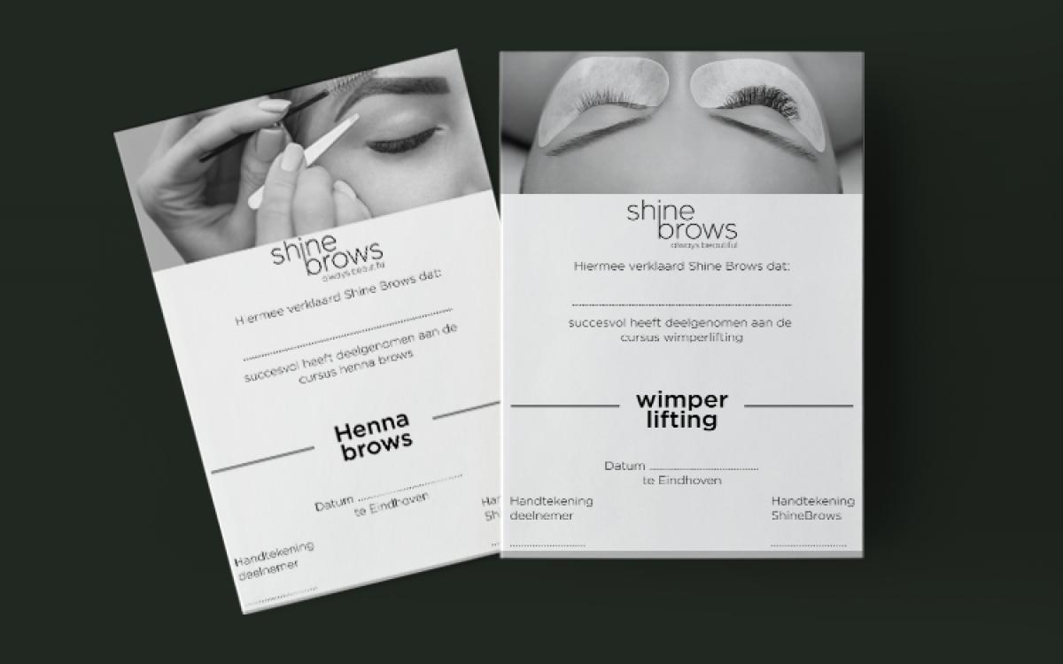 Shine Brows Certificaat