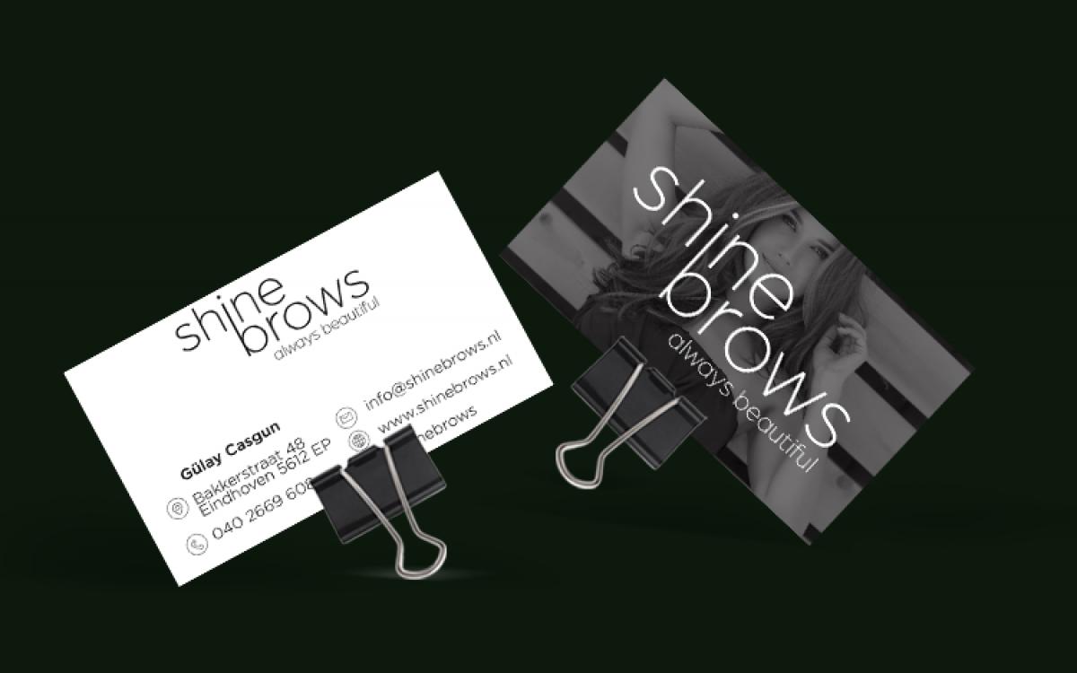 Shine Brows visitekaart