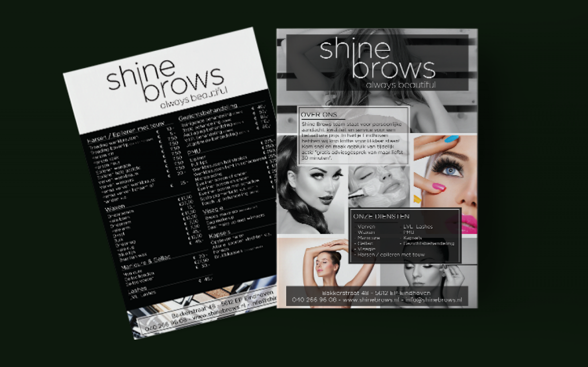 Shine Brows Flyer