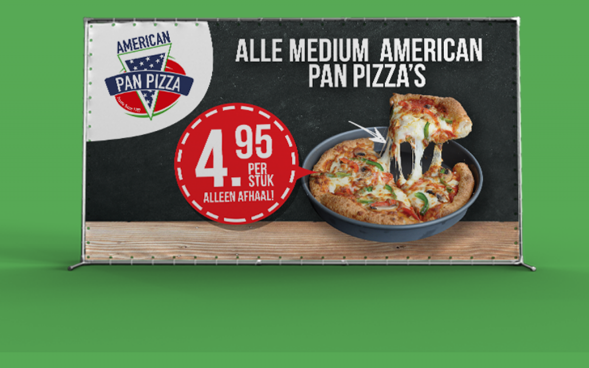 Amerikan Pan Pizza Spandoek