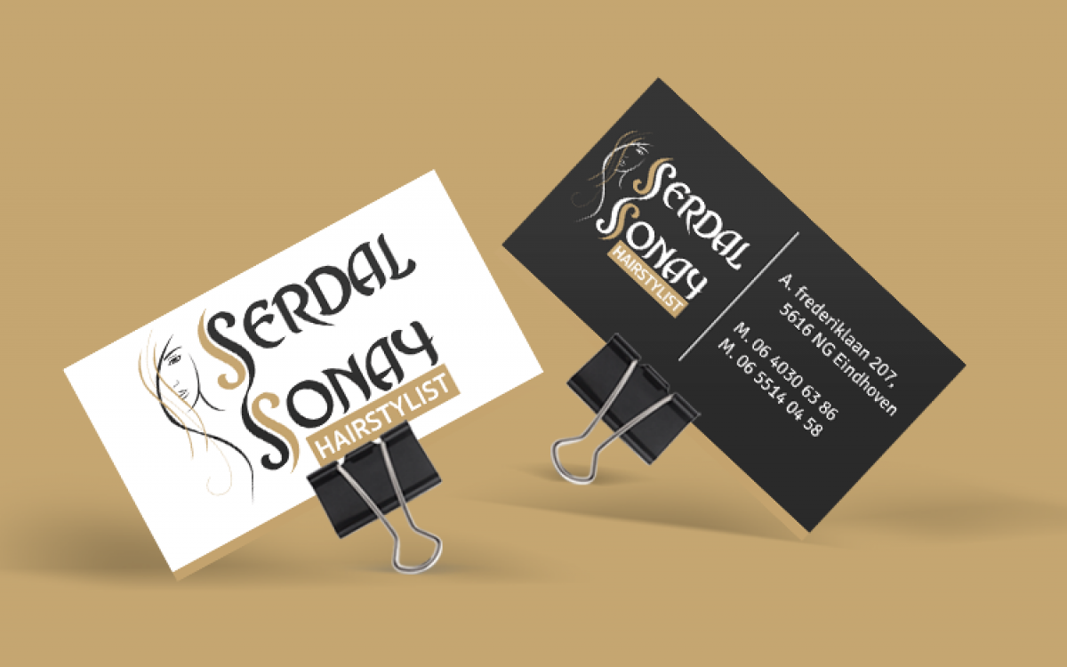 Serdal Sonay Hairstylist visitekaart